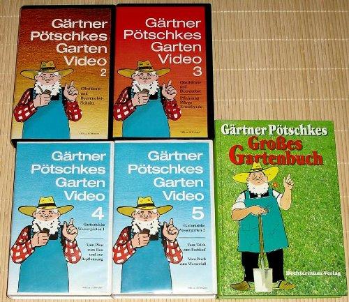 4x Video + Buch - GÄRTNER PÖTSCHKES GARTEN VIDEO 2+3+4+5 Obstbaum- und Beerenobstschnitt + Obstbäume und Beerenobst + Pflanzung, Pflege, Erntefreude + Gartenteiche Wassergärten 1 + 2