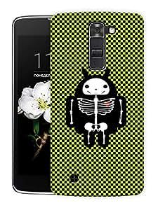 "Humor Gang Electrified Skeleton Pattern Printed Designer Mobile Back Cover For ""LG K10"" (3D, Matte Finish, Premium Quality, Protective Snap On Slim Hard Phone Case, Multi Color)"