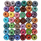 42 Bobinas de Hilo de Algodón para Ganchillar -3990 Metros- Arte del Tejido de Cordón de CurtzyTM