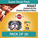 [Sponsored]Pedigree Gravy Adult Dog Food Chicken & Liver Chunks, 80 G (Pack Of 30)