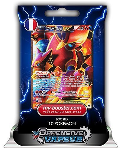 VOLCANION EX FULL ART 107/114 180PV XY11 OFFENSIVE VAPEUR - Booster de 10 cartes Pokemon francaises my-booster