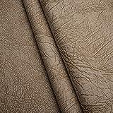 Elefant Nubuk Imitat Microfaser Möbelstoff Polsterstoff Möbel Sitzbezug Stoff Meterware - Beige - EL03