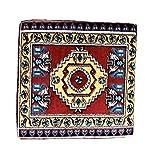 Nesbelle Orientalische Sitzkissen, Rückenkissen Rot, Komplett gefüllt (Sitzkissen: ca. 58 x 58 x 10 cm)