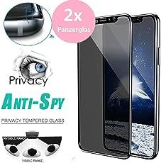 samLIKE 2 Stück Panzerglas für iPhone XS Max mit Schablone Rahmen 9H Härte Sichtschutz Glas Transparent Blickschutzfolie, [6,5 Zoll] [3D Touch] [Bruchsicher] [Anti-Öl ] [Anti-Kratzen] [Blasenfrei] (🍎 2 Stück)