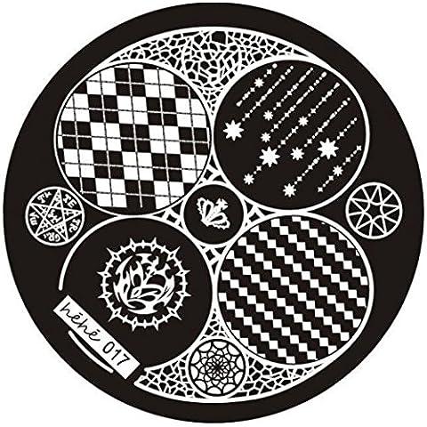 Fortan Nail Art Timbro immagine Piastre Stampaggio manicure Template Hehe Serie 017