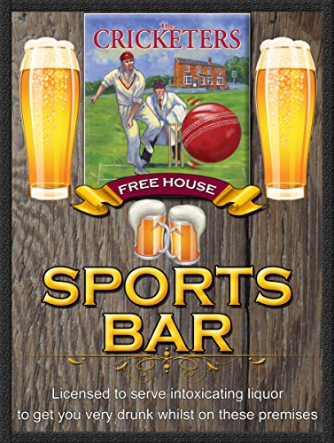 Die Cricket-Spieler frei House Sports Bar Retro Metall Zinn Wandplakette/Schild Neuheit Geschenk Home Bar (Cricket-spieler)