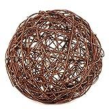 BooGardi wilgenbol – decoratieve bol of tuinbol van gevlochten wilgentenen als verfraaiing en blikvanger voor tuin, balkon en terras 30 cm naturel