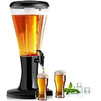 COSTWAY Distributeur de Bière,Tour de Bière avec 3L de Capacité Tube de Glace Séparé avec Lumières Variétées pour Fêtes…