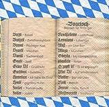 20 Stück, Design Serviette Boarisch