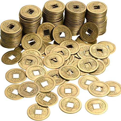 Boao 200 Stücke Chinesische Feng Shui Münzen Reichtum Münzen I-Ching Münzen für Gesundheit und Reichtum, 0,8 Zoll
