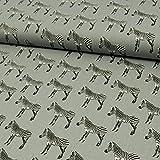 Baumwollstoff Zebras grau - Preis gilt für 0,5 Meter -