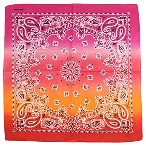 Damen Schal mit Farbverlauf, quadratisch, bedruckt, Halstuch 1
