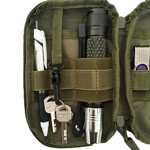 ruifu Outdoor Tactical Waist Pack Tasche MOLLE EDC Camping Wandern Tasche Geldbörse Handy Fall Armeegrün