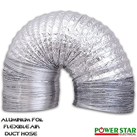 Air Ducting Aluminium Foil Flexible Ventilation Fan Duct Extractor Hydroponics