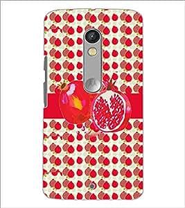 PrintDhaba Pomegranate D-2798 Back Case Cover for MOTOROLA MOTO X PLAY (Multi-Coloured)