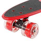 FunTomia Mini-Board Cruiser Skateboard mit 70/65mm Big Wheel Rollen inkl. MACH1® ABEC-11 Kugellager - 2