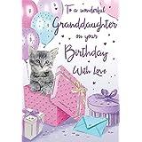 Birthday Card Granddaughter - 9 x 6 inches - Regal Publishing, C80442