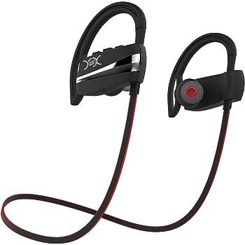 YXwin Bluetooth Kopfhörer Sport Kabellos Headset In Ear Noise Cancelling  Ohrhörer für Jogging (Schwarz und Rot) 3c12d7b79a