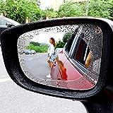 KOBWA Auto-Rückspiegel, regendicht, Antibeschlag-Schutzmembran 2 Stück, Anti-Beschlag-Zubehör für Autofenster, klare PET-Folie, universell für Auto