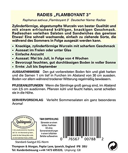 Radieschensamen – Radies Flamboyant 3 von Thompson & Morgan