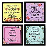 Best Frames With Quotes - Indianara Family Quote Rectangular Synthetic Wood Art Painting Review