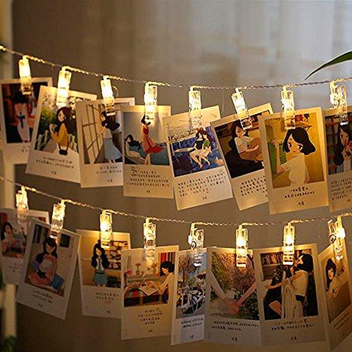 Indoor-outdoor-weihnachtsbeleuchtung (ELINKUME 20 LED Foto Clip String Lichter 2 Modi zum Aufhängen Weihnachtsbeleuchtung Bilder Indoor / Outdoor-Dekoration (warmweiß))
