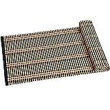 Kesper Tischläufer, dunkel, schmale Tischdecke, aus Bambus, Maße: 335 x 1180 mm, braun/schwarz