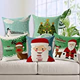 Aart Christmas theme printed Cushion with filler (Set of 5) by Aart Store