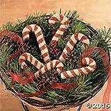 TYV Madera Tallada y Pintada Bastones de Caramelo, rústico Navidad decoración, 6cm