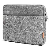 Inateck Housse d'Ordinateur Portable 13-13.3' en Feutre Gris, Design Combiné pour MacBook Air/MacBook Pro 2012/2013/2014/2015 et d'autres PC portables de 13'