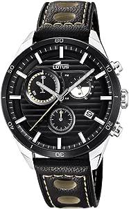 Lotus Watches Homme Chronographe Quartz Montre avec Bracelet en Cuir 18531/1