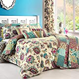 Dreams n' Drapes, Biancheria per letto King size, incl. Copripiumino Matrimoniale e federe, Multicolore (Teal)