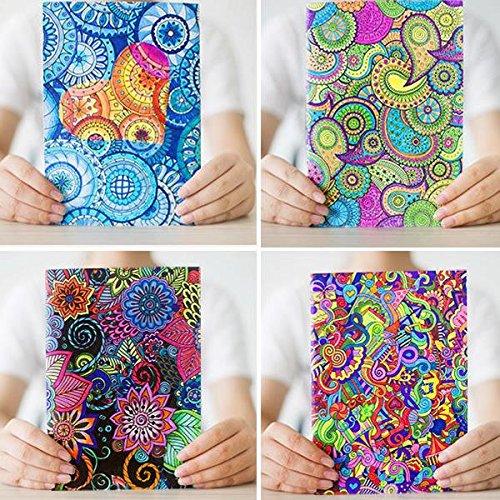 Tutoy 4 Stück Kinbor Secret Garden Kreatives Papier Notebook Mit 6 Farbe Kugelschreiber