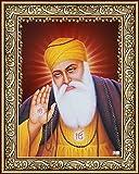 Avercart Guru Nanak Dev Ji / Gurunanak Sikh Religious Poster 13x18 cm with Photo Frame (5x7 inch framed)