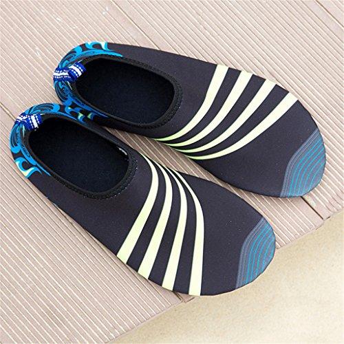 Blion Herren Damen Wasserschuhe Surfschuhe Aquaschuhe Strandschuhe Schwimmschuhe Barfußschuhe Breathable Schnell Trocknend 08 schwarz