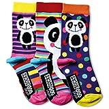 Verrückte Socken Oddsocks Panda für Mädchen im 3er Set