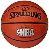 Spalding Basketball Silver Outdoor Größe 7 + Molten DHP21-BL Ballpumpe + Kugelschreiber von RS-Sports