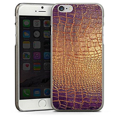Apple iPhone 6 Plus Housse étui coque protection Peau de serpent Motif Motif CasDur anthracite clair