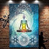 KING DO WAY Tapisserie Teppich Yoga-Matte Wandbehang mit Mandala 200x150cm, aus Polyester