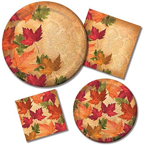 Hunter Green Teller (Creative Converting Herbst Eleganz Urlaub Geschirr Set Pappteller und Servietten für 16Gäste, orange/rot)