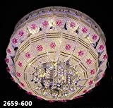 #9: LEd Chandelier (Jhoomar) With Bluetooth Music System usb connection 600mm(Free Wall Decorative Lamp)