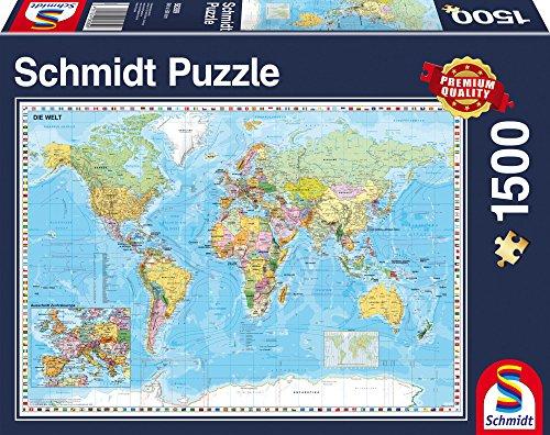 e 58289 - Die Welt Puzzle, 1500 Teile (Karte Puzzle)