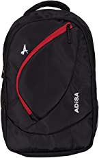 ADISA BP004 Black Light Weight 31 Ltrs Casual Laptop Backpack