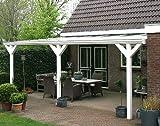 ALU Terrassenüberdachung 400x300cm wahlweise in 3 Farben Montagefertig Überdachung Vordach Überdachung Aluminium Terrasse