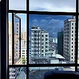 Spiegelfolie Fensterfolie,Anti-uv Sonnen schutzfolie,Pet Selbstklebend Hinfahrt Ablehnung der wärmeregulierung Ex-schutz Glas klar Balkon Küche Sun control sonnenschutzfolien-A 120x100cm(47x39inch)