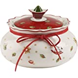 Villeroy & Boch Toy's Delight Petit pot de conservation, Porcelaine Premium, Blanc/Rouge