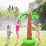 Instag Sprinkler Spielzeug Sommer aufblasbare Sprinkleranlage Kinderspiel Wasserspielzeug Spray Simulation Kokospalme Spielzeug Outdoor Eltern-Kind-Strand Rasenspiel Wasser