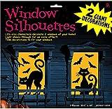 Amscan International 459020 Decoration Window Silhette Cat And Bat Party Set