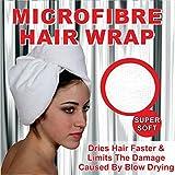 Magic Turban Cheveux Serviette de séchage–non allergique Super Doux–Moyen simple et rapide pour sécher les cheveux sans électrique Sèche-cheveux, 1