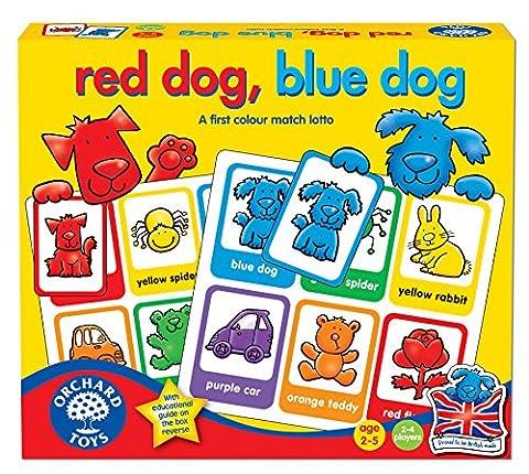 Orchard Toys - Jeu de chien rouge, chien bleu
